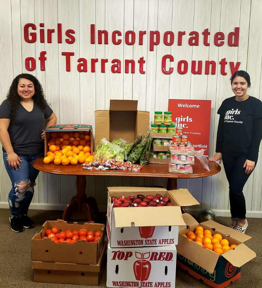 Supporting girls and communities with food drops, Tarrant County Girls Inc.