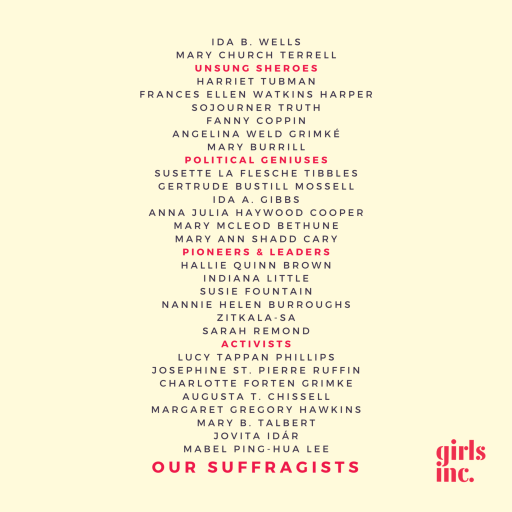 19th Amendment suffragists list