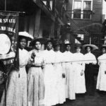 Black women suffragettes fighting for the 19th Amendment