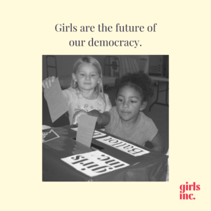 She Votes exploring voting and civic engagement with girls