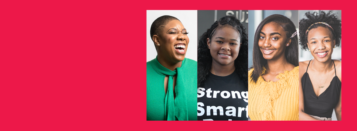 Symone Sanders and Girls Inc. girls in conversation
